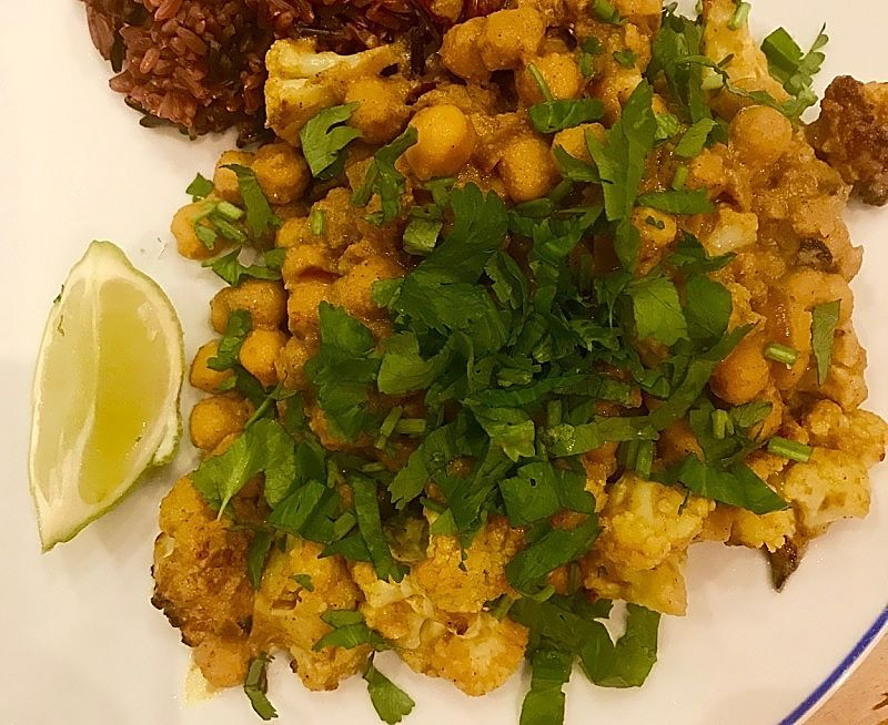 Homemade Cauliflower Curry