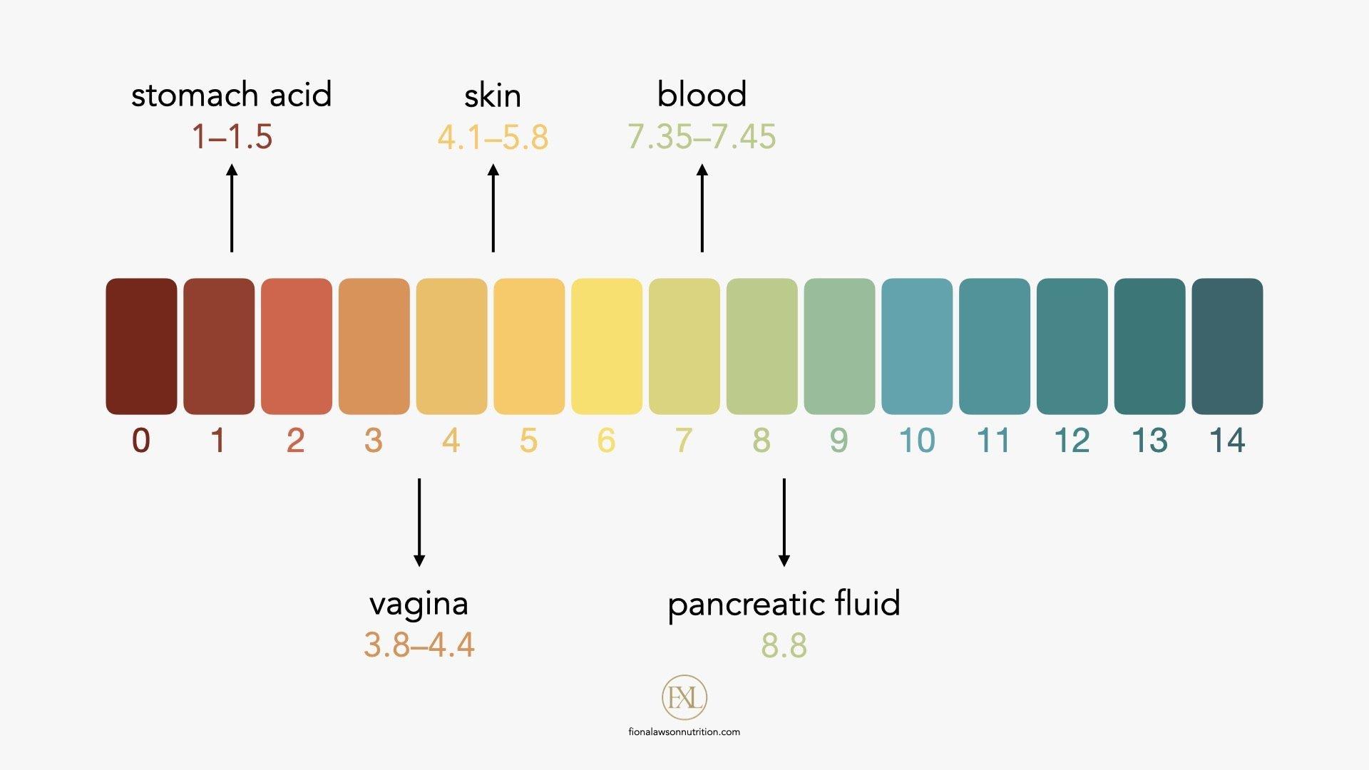 skin pH chart